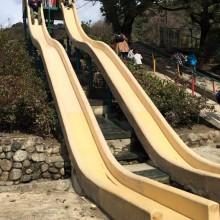 長い滑り台に、天然シイタケ。子どもがたくさん遊べる自然たっぷりの五月山公園。