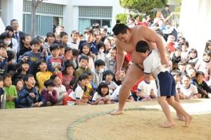 池田にお相撲さんがやってきた!